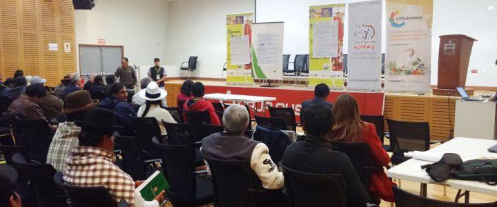 CITEalimenta participa en el I Encuentro Nacional de Organizaciones de Productores de Granos Andinos